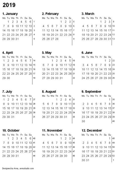 printable calendar for 2019 free printable calendars and planners 2017 2018 2019 2020