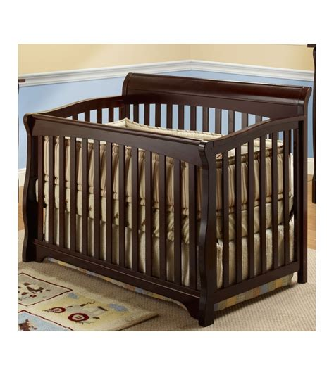 Florence Cribs by Sb2 Florence Crib With Toddler Rail In Espresso