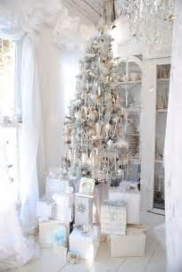 white tree decor top silver and white decoration ideas