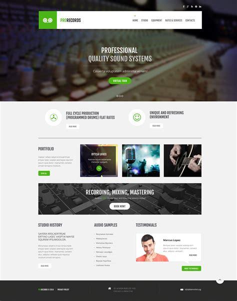 Recording Studio Responsive Website Template 47897 Studio Website Template