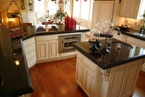 Kitchens With Black Countertops Absolute Black Granite Installed Design Photos And Reviews Granix Inc