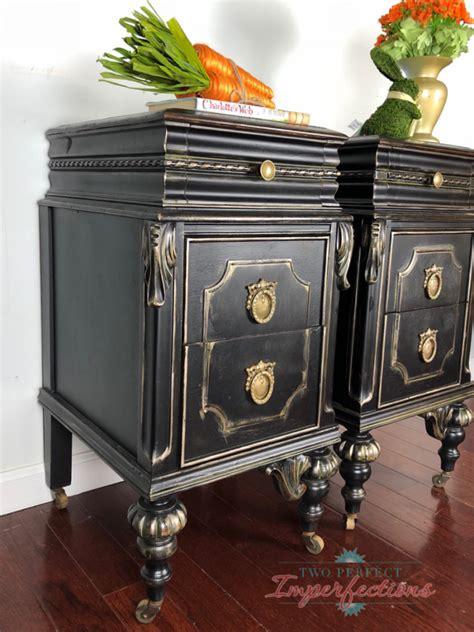 black  gold nightstands general finishes design center