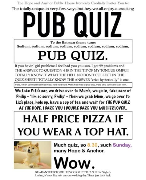 quiz questions january 2016 hope and anchor quiz every sunday evening 3 january 2016