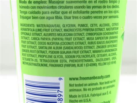 Freeman Apple Cicler Sugar freeman s key lime scrub sounds enough to eat