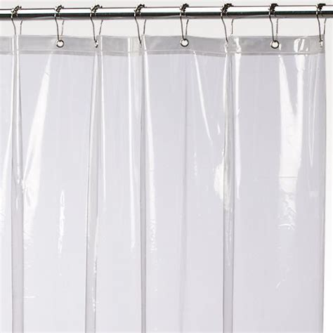 clear shower curtain liner extra long super clear anti mildew 84 quot extra long 10 gauge vinyl