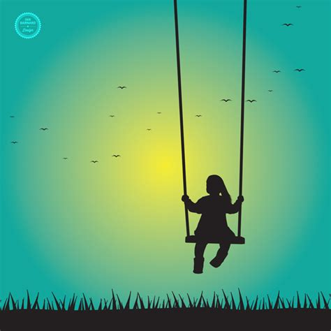 girl on swing silhouette free girl swinging silhouette vector ian barnard