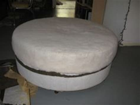 how to reupholster a round ottoman gates of crystal reupholstering a round ottoman with