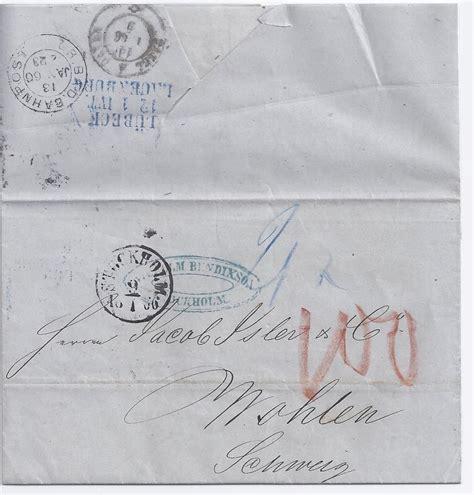 Brief Schweiz österreich Porto schweden schweiz 1866 sch 246 ner porto brief v stockholm m