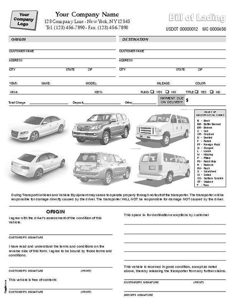 auto transport invoice template auto transport invoice template 100 images microsoft