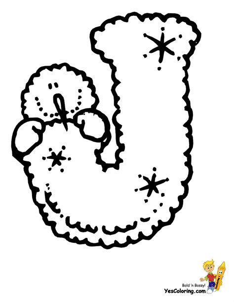 Printable Christmas Alphabet Coloring Pages Elmo Letter Z