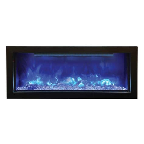 Blue Electric Fireplace by Amantii 40 Quot Bi 40 Panorama Built In Electric