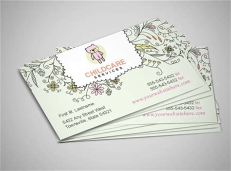 babysitting business card template child baby day care services provider business card