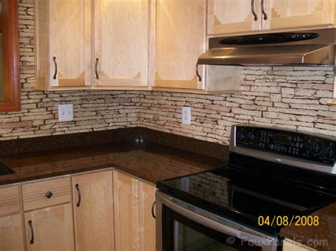 faux rock backsplash kitchen backsplash ideas beautiful designs made easy