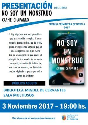 libro no soy un monstruo 20 aniversario de la biblioteca miguel de cervantes noviembre 2017 ayuntamiento de pozuelo