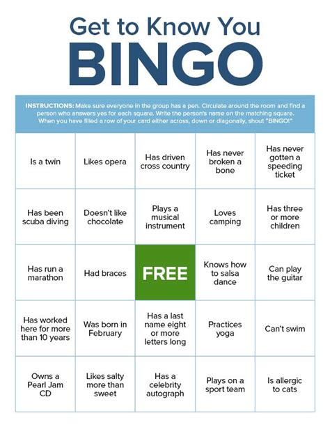 Get To You Bingo Card Template by Introduction Bingo Template Gallery Template Design Ideas