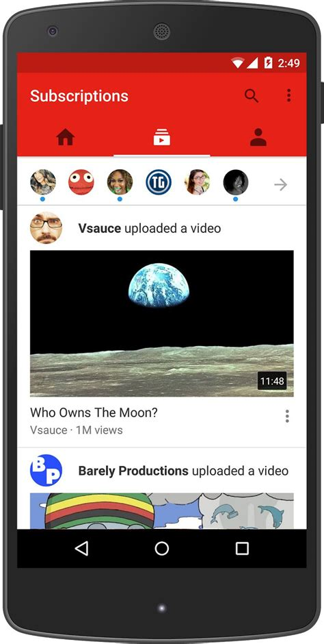Youtube Moblie | youtube unveils new mobile app design with emphasis on