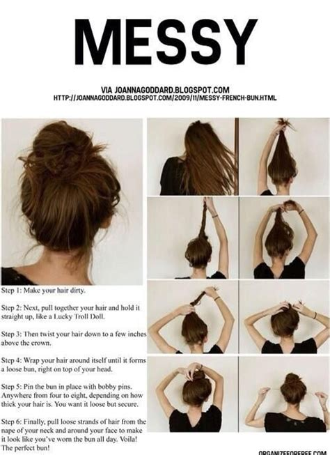how to make beautiful and easy hair styles messy bun tutorial pictures photos and images for