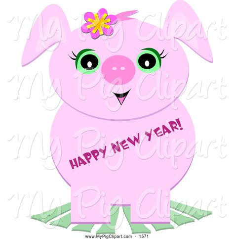 new year pig qualities new years clipart 71