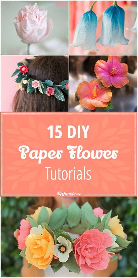tutorial tuesday diy paper flowers 15 diy paper flower tutorials tip junkie