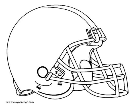 Football Helmet Outline Profile by Football Helmet Coloring Pages To And Print For Free