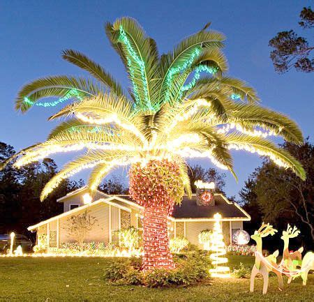 decorated palm trees for christmas beachy christmas