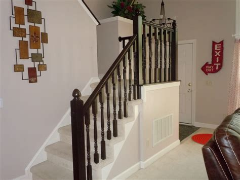 oak banister makeover diy stair banister makeover using gel stain construction