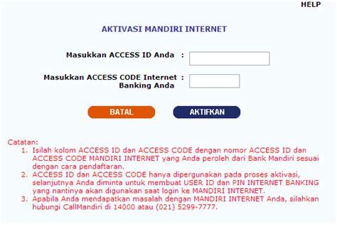 membuat rekening mandiri online wahyudieko s blog membuat internet banking bank mandiri