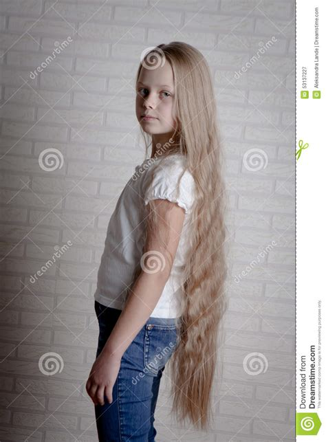 girls long hairstyles little girls long hairstyle gallery beautiful little girl with long hair stock photo image