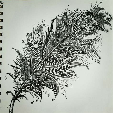 zentangle pattern drawing zentangle feather patterns step by step google search