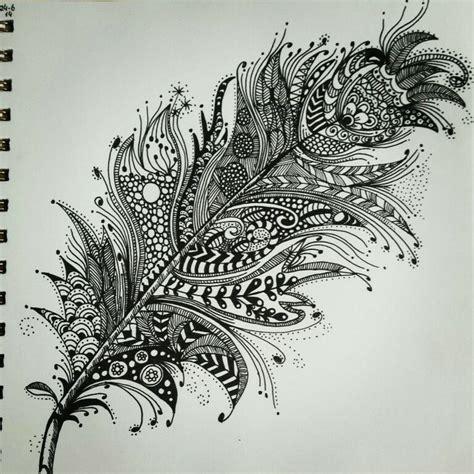 zentangle pattern pinterest zentangle feather patterns step by step google search