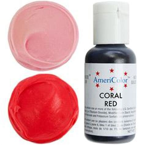 coral food coloring americolor coral soft gel paste icing food colouring 4 5oz