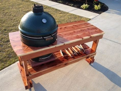 big green egg table cedar big green eggs green