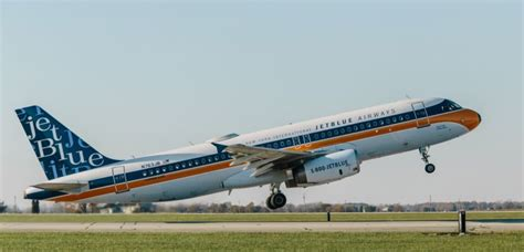jetblue introduces  inspired retro livery