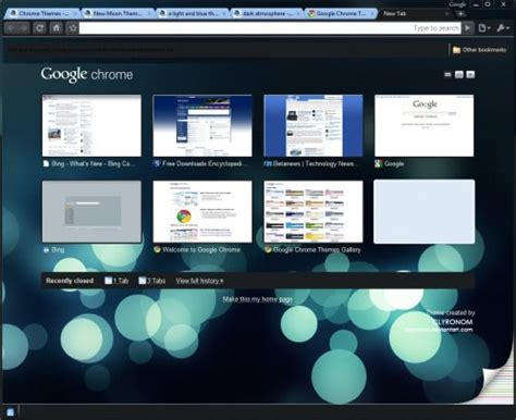 complete themes for google chrome ده تم پراستفاده كروم
