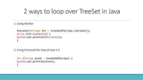 tutorial java iterator how to loop over treeset in java with exle java67