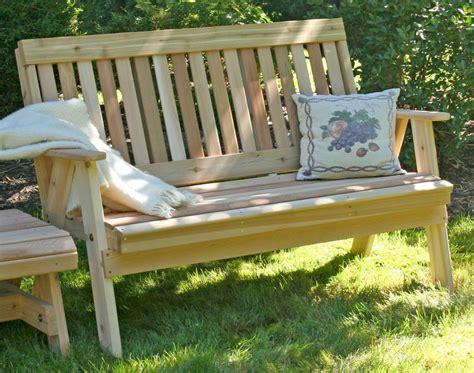 cedar bench designs creekvine designs 2 cedar countryside garden bench
