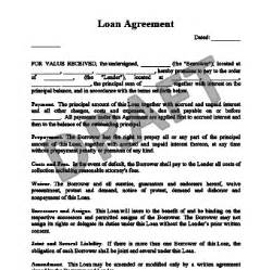 contract template for lending money to a friend create a loan agreement templates