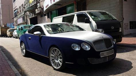 bentley wrapped bentley continental gt wrapped in blue velvet autoevolution