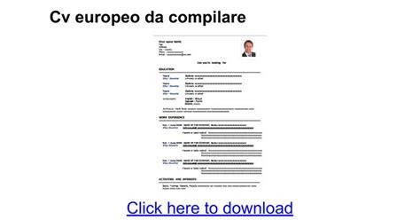 download modello curriculum vitae da compilare gratis scarica gratis cv europeo da compilare curriculum vitae 2018