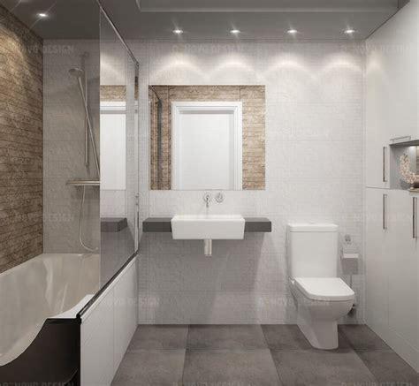 faience salle de bain gris et blanc