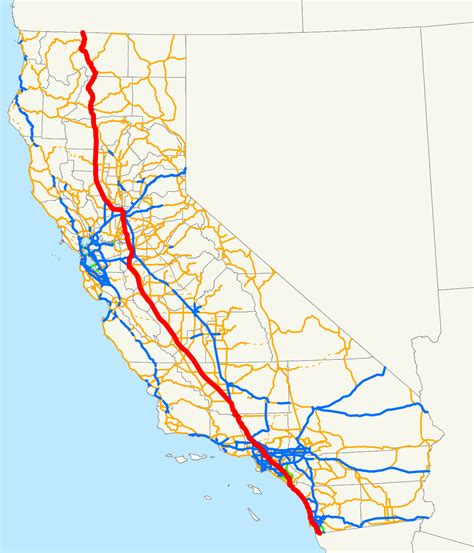 i 5 map interstate 5 in california