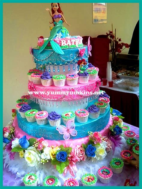 Ariel Birthday Cake Decorations by Ariel Birthday Cake Mermaid