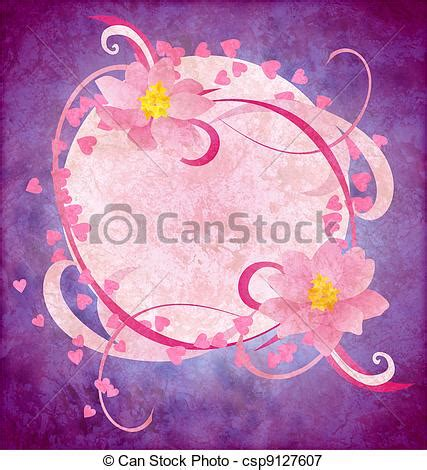 grunge paper floral background stock illustration illustration 19511049 grunge pink flowers on purple background royalty free clip csp9127607