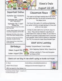 weekly letter to parents template kindergarten newsletter template submited images the teaching oasis parent communication