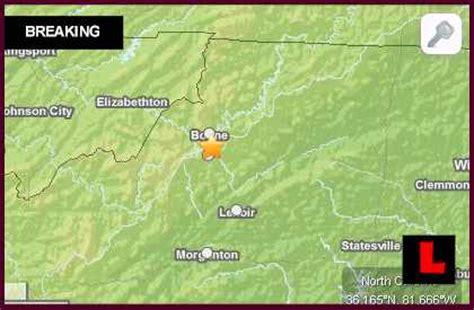 earthquake north carolina north carolina earthquake today 2013 strikes boone