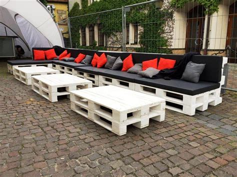 Diy Patio Seating by Large Pallet Sofa Set For Outdoor Seating
