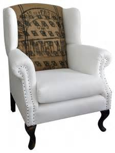 Linen Wingback Chair Design Ideas Wingback Chair Linen And Jute Eclectic Armchairs Accent Chairs New York By Omero