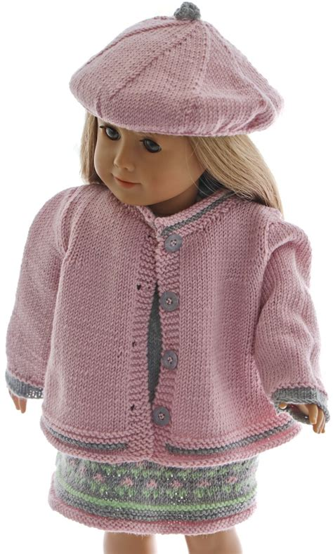 18 inch doll clothes knitting patterns 18 inch doll dress knitting pattern