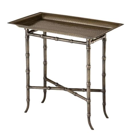tray tables ballandro rectuangular antique brass tray table