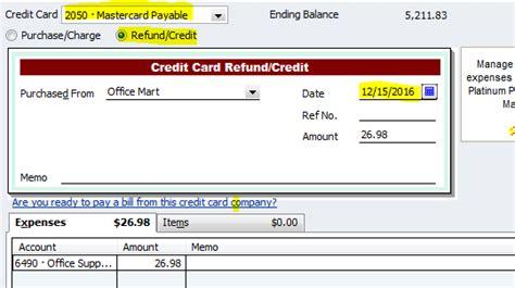 quickbooks enterprise tutorial 2013 how to enter credit card cash back rewards and returns in